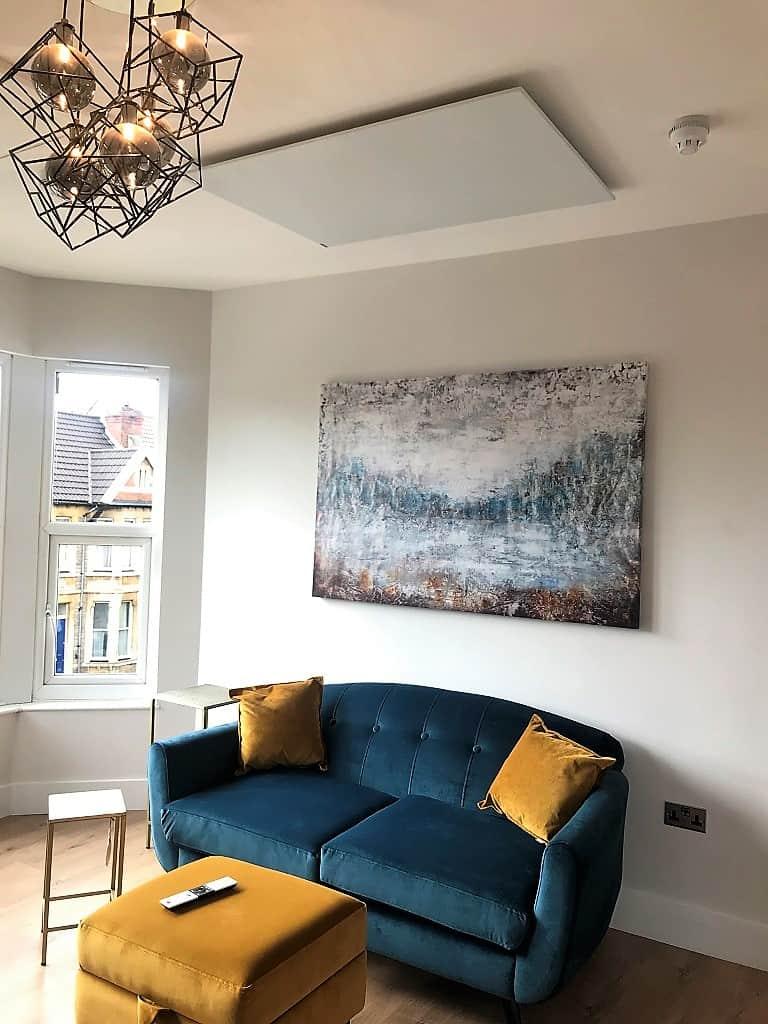 Herschel Select XL heaters in a studio apartment
