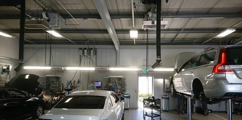 Herschel heating car workshop space