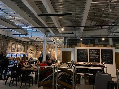 Herschel Summit warming a wine bar