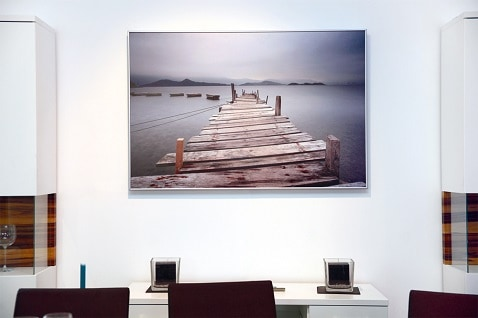 office space warmed by decorative Herschel picture panel
