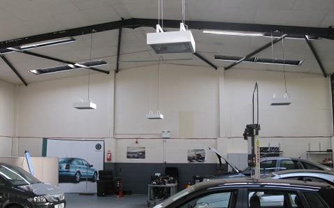 Herschel IRP4 provides the ideal garage workshop heater