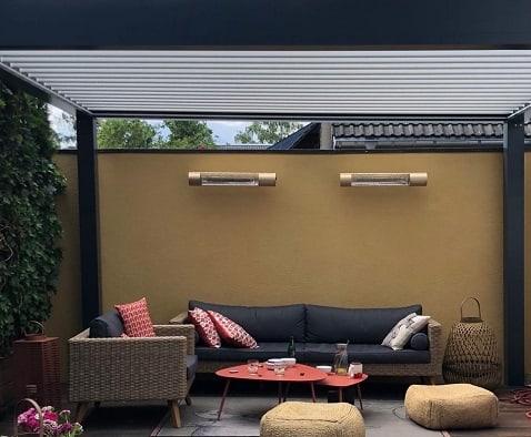 Herschel Infrared California heaters in rose gold